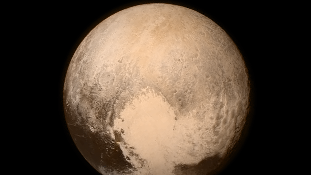 One of the final images taken before the NASA spacecraft New Horizons made its closest approach to Pluto, on 14 July 2015. NASA/Johns Hopkins University Applied Physics Laboratory/Southwest Research Institute