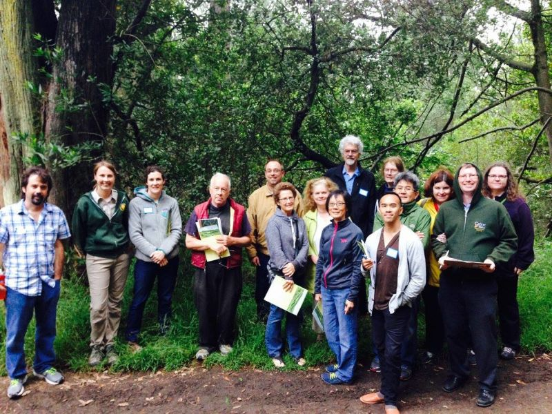 Citizen scientist volunteers just completed a training at Redwood Regional Park and will be going out on the trail to monitor plant phenology.