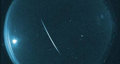 A Quadrantid meteor photographed during the 2014 shower.