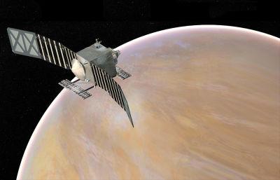 Artist concept of proposed VERITAS mission spacecraft.