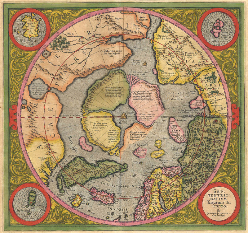 Maps as late as the mid-19th century envisioned an ice-free Arctic Sea, surrounded by temperate regions and undiscovered peoples.