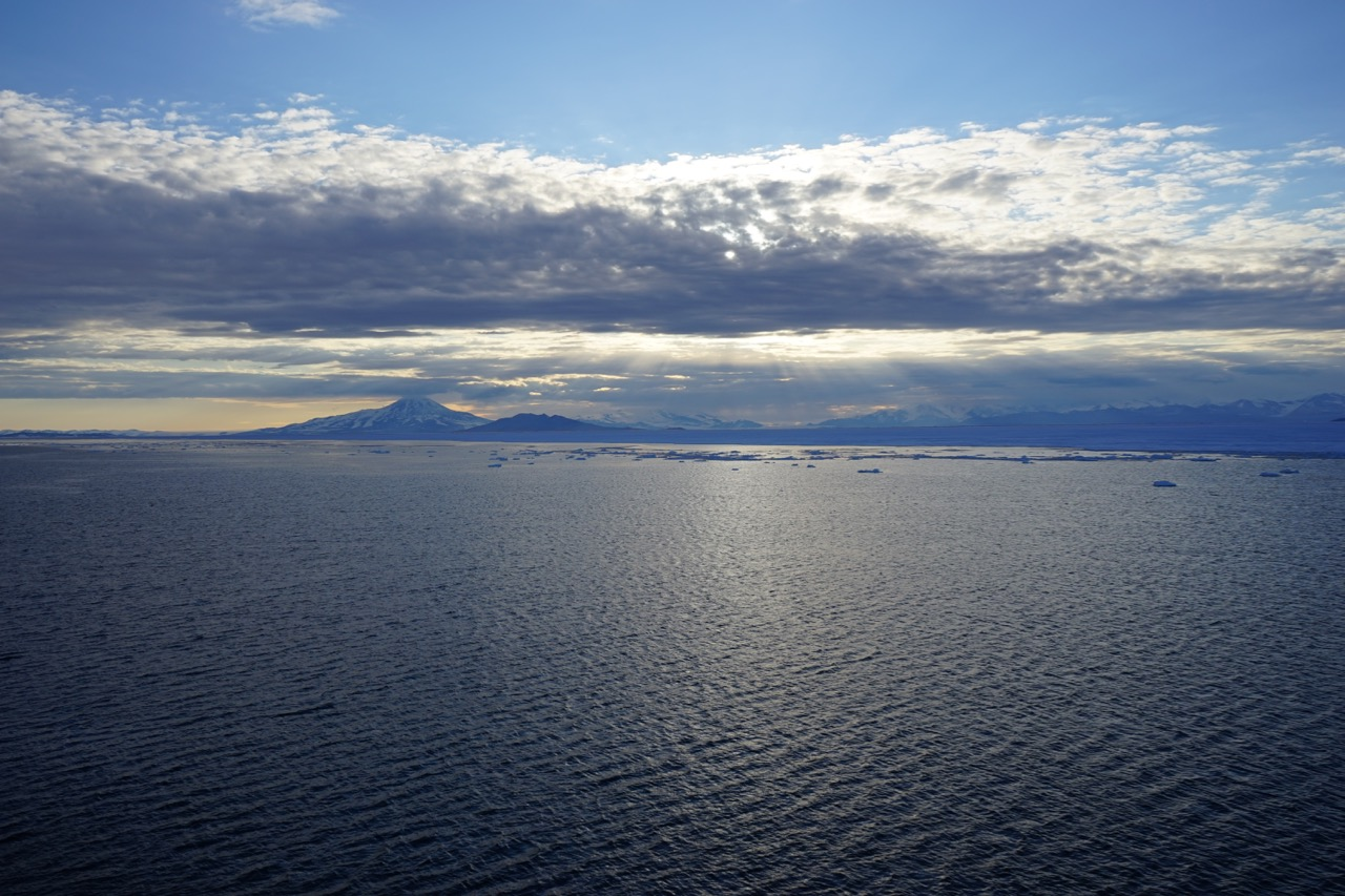 In just a few hours, the fast ice covering McMurdo Sound begins breaking up, taking the channel with it.