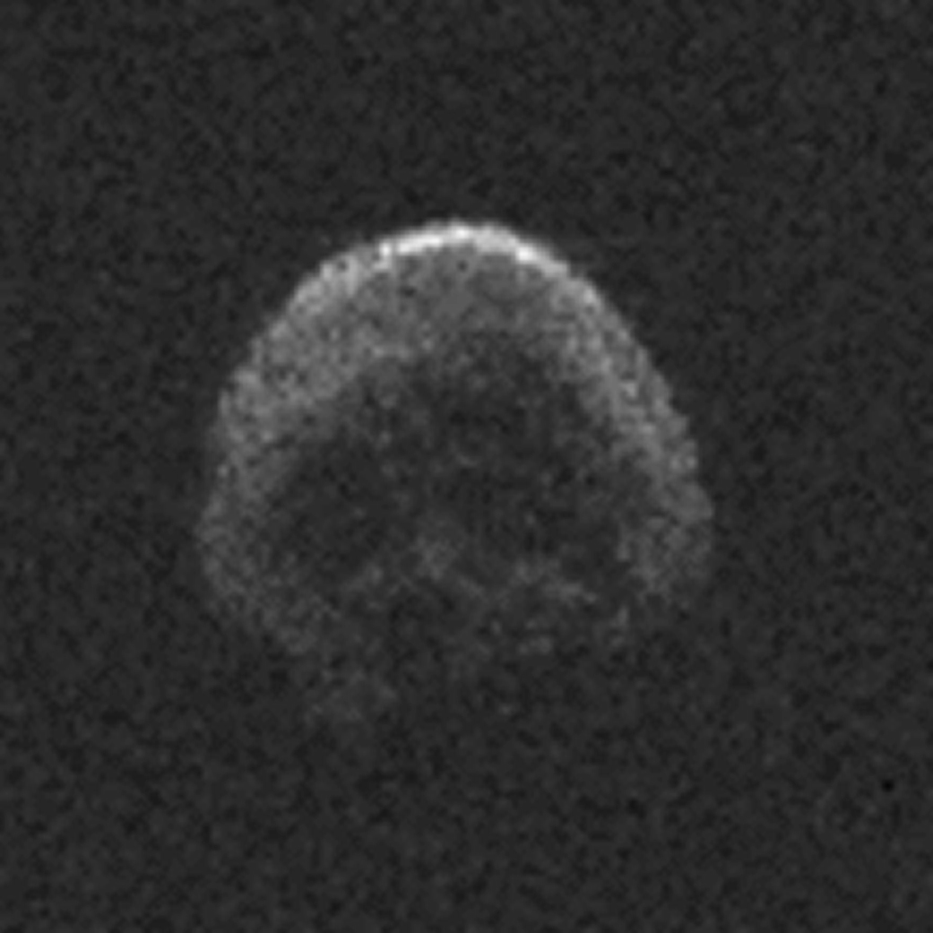 """Radar image of the """"Halloween Asteroid""""--a large Near Earth Object that passed relatively close on October 31, 2015"""