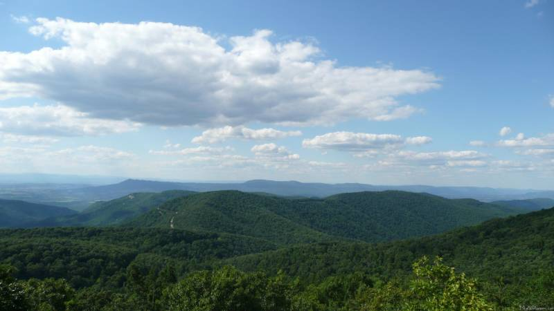 The Appalachian Mountains, once as high and mighty as the Alps or the Rockies, have eroded over hundreds of millions of years to low, gentle ridges and peaks.