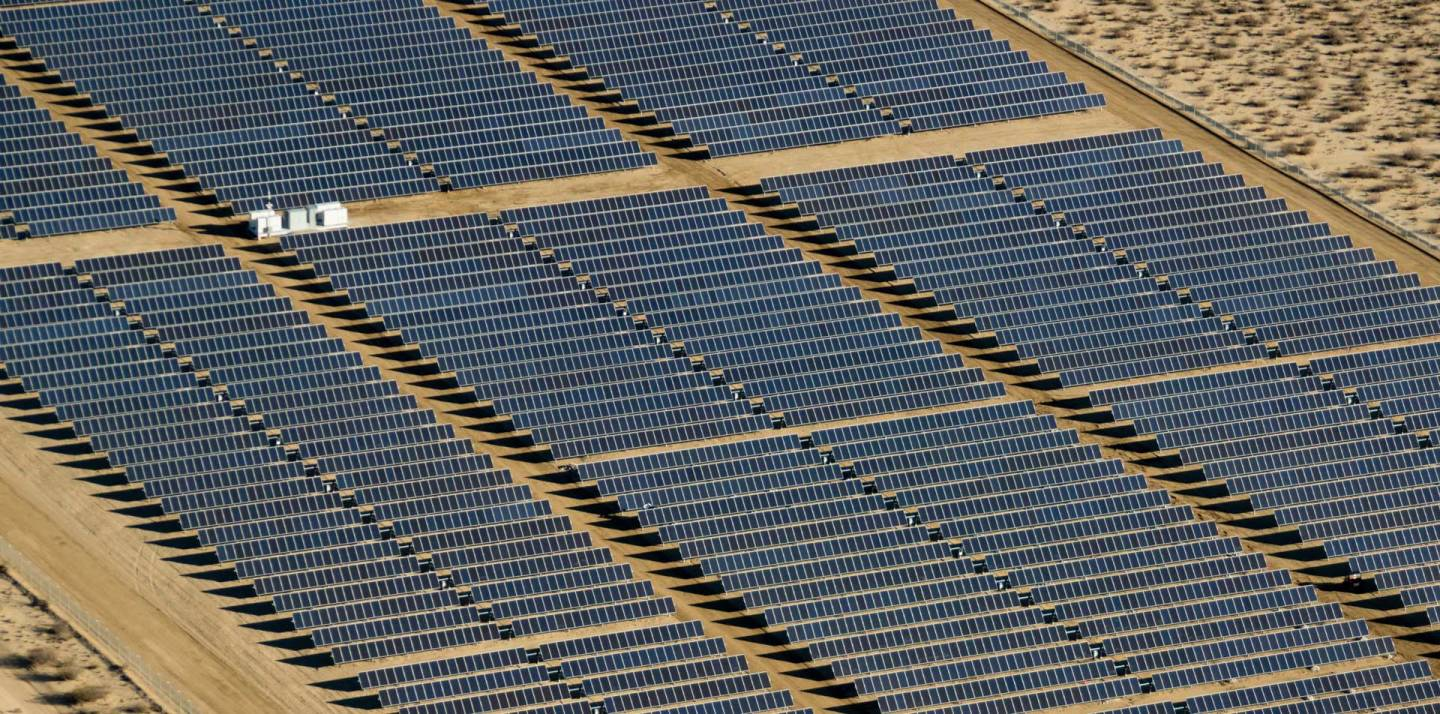 Some solar farms, like this Recurrent Energy project in Kern County, are being turned off on sunny days. Recurrent Energy
