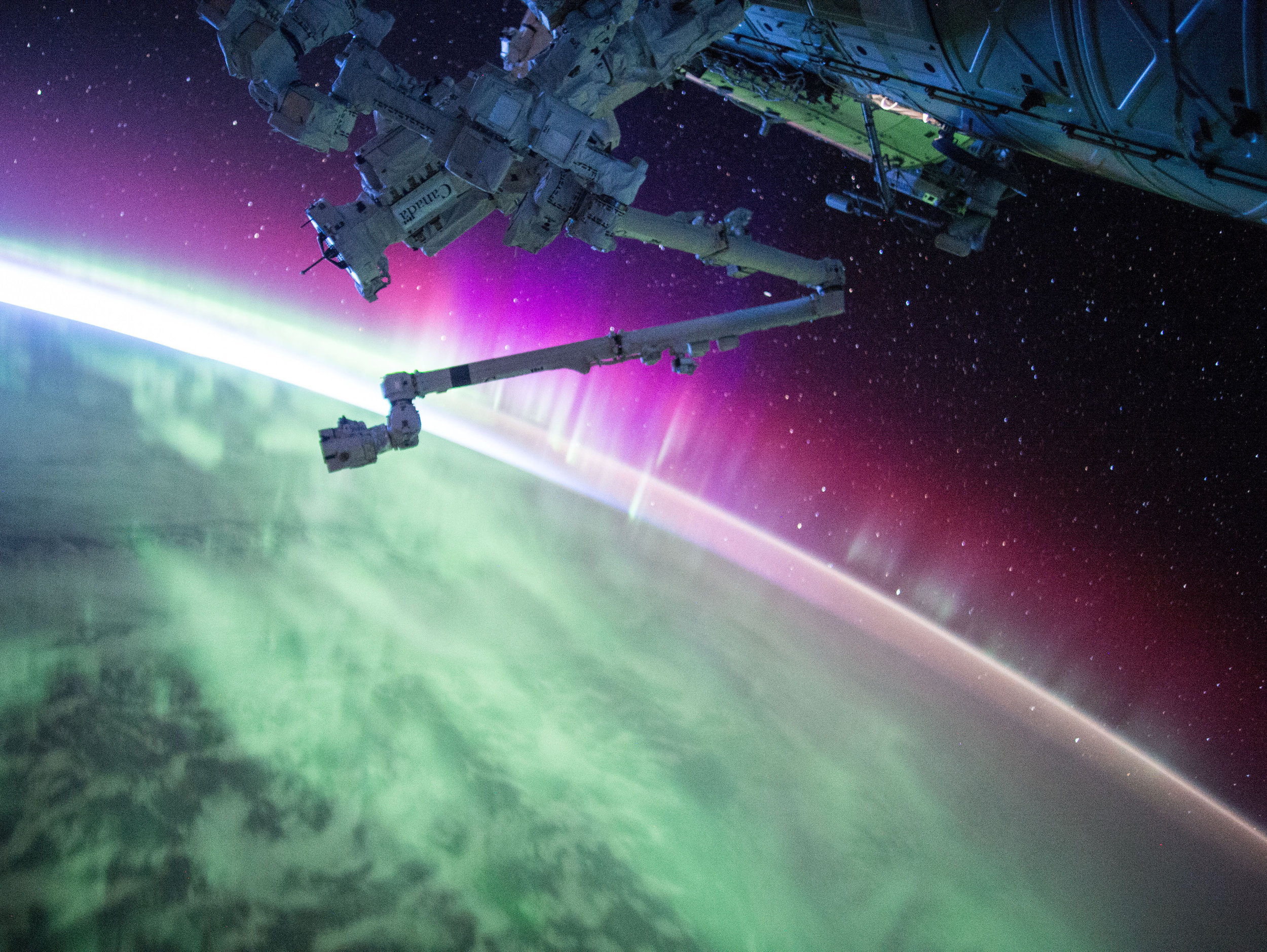 Kelly posted this photo of an aurora to Twitter on Aug. 15.