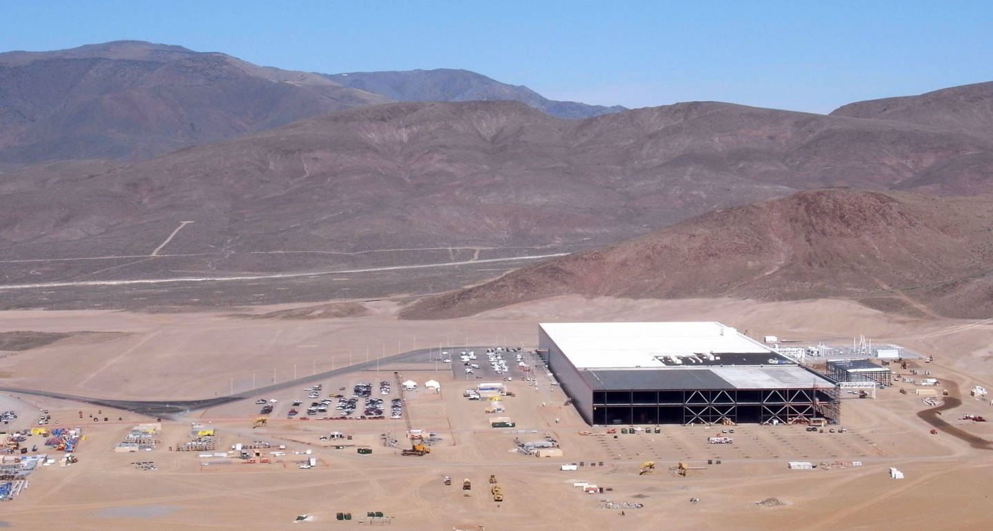 About 14 percent of the Gigfactory has been built so far. It's expected to be one of the largest buildings on the planet. Tesla