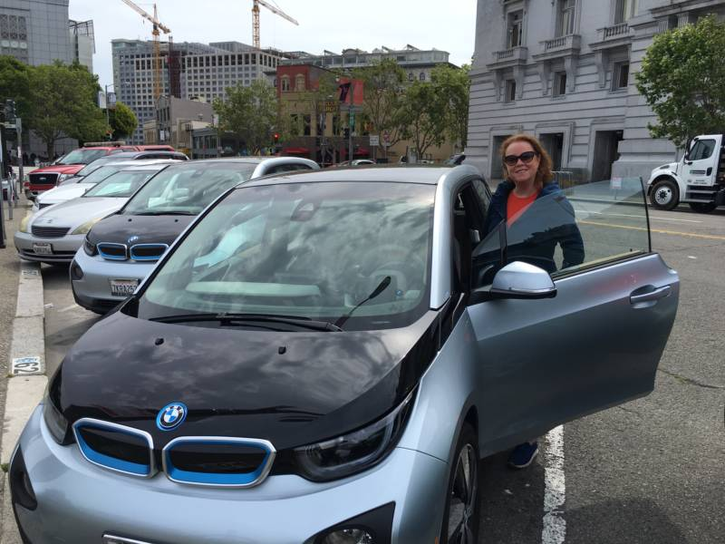 Electric Car Driver Maureen Blanc