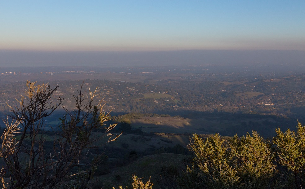 Pollution over the South Bay on January 3, 2015.