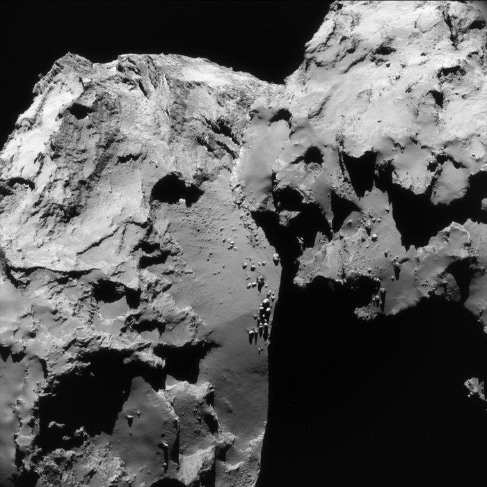Picture of comet 67P/Churyumov-Gerasimenko taken on June 17, 2016 by the Rosetta spacecraft.