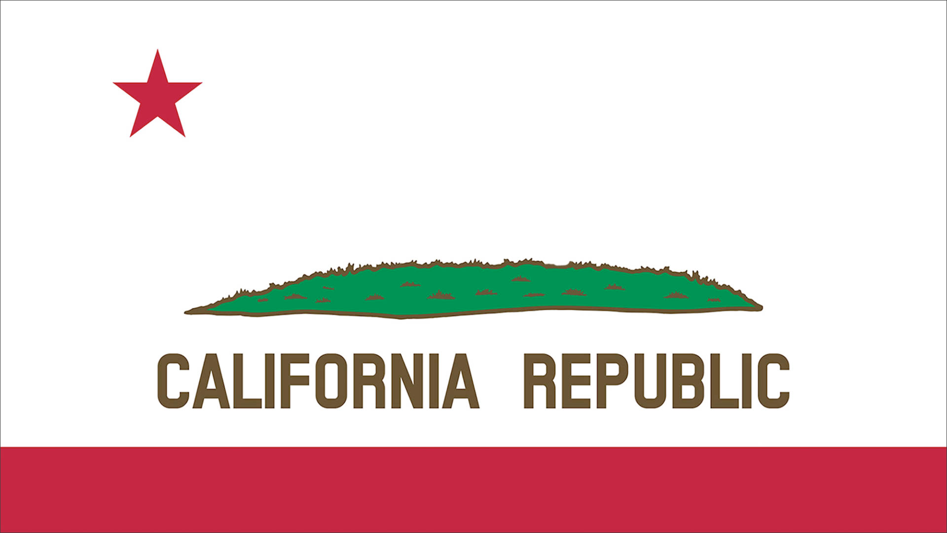 California Flag without the Bear