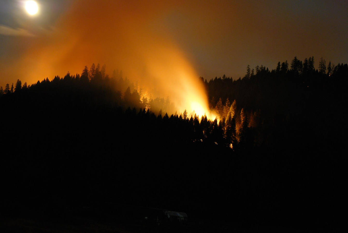 There are fewer lightning caused fires this year like the Happy Camp Complex Fire (above) which was started by a lightning strike in 2014. U.S. Forest Service