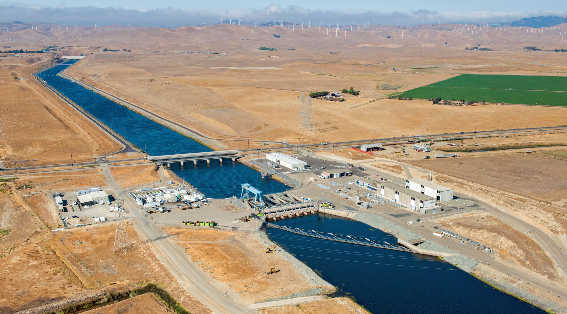 The Banks Pumping plant draws water out of the Delta and sends it hundreds of miles south.
