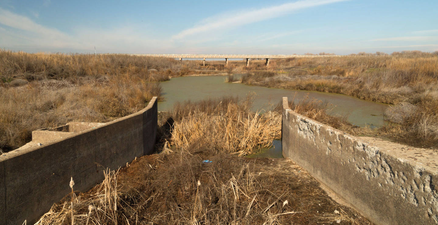 California's second largest river, the San Joaquin, goes completely dry in places. Josh Cassidy/KQED