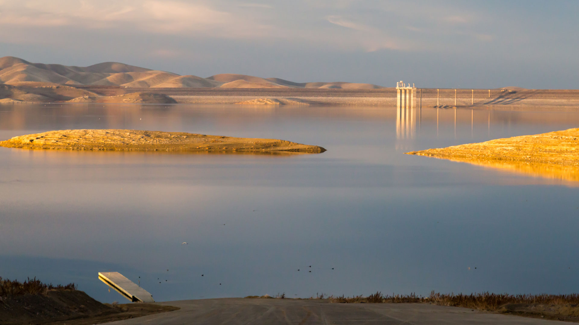 San Luis Reservoir, which serves the Central Valley and Bay Area, is filled entirely by water from the Delta pumping plants.
