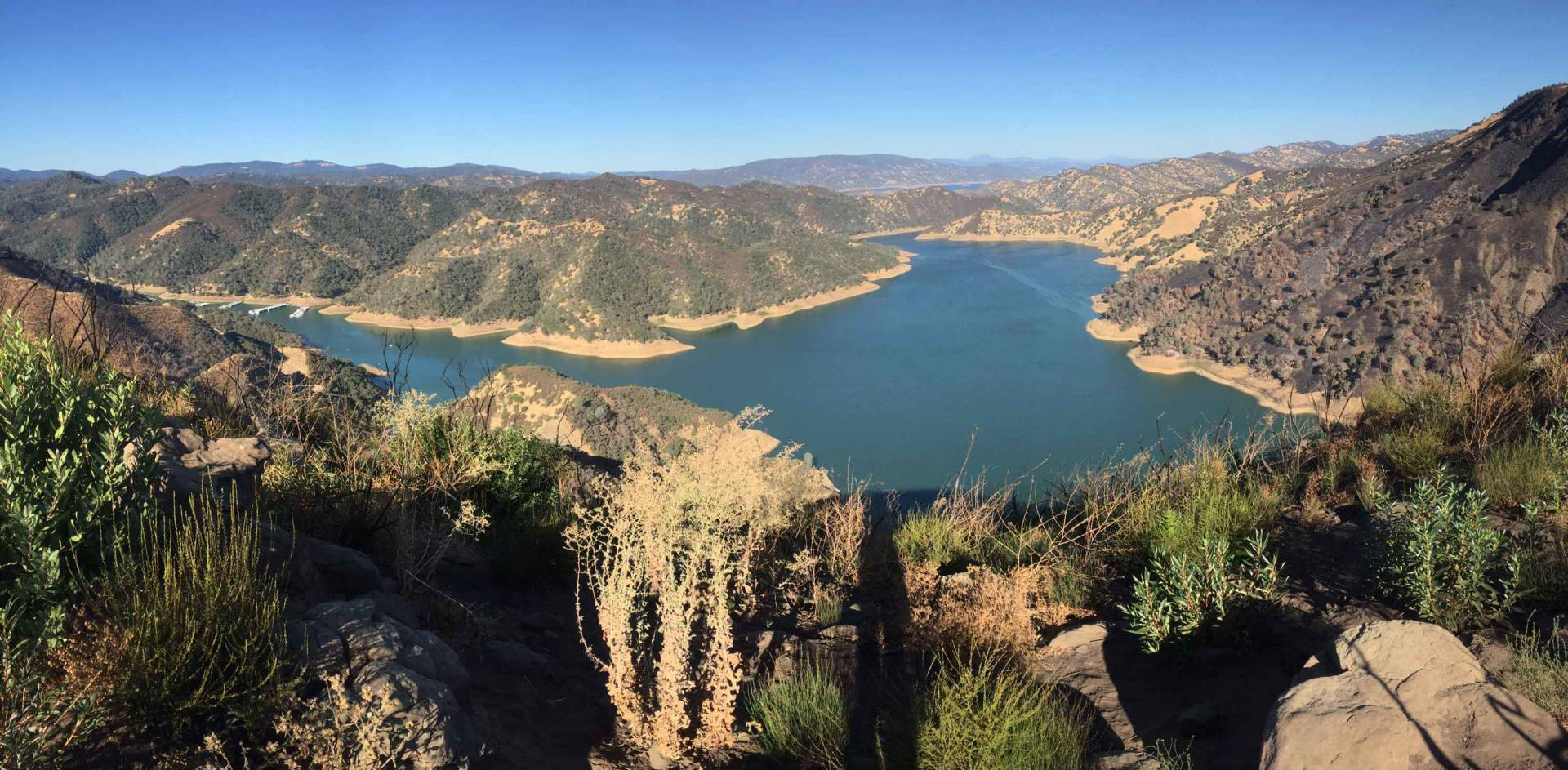 Lake Berryessa in Napa County is a reservoir formed behind the Monticello Dam. Lindsey Hoshaw/KQED