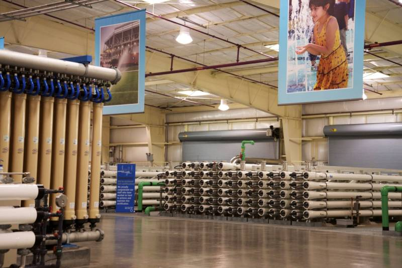 A view inside the Silicon Valley Advanced Water Purification Center in San Jose, Calif.