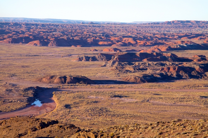Petrified Forest National Park in Arizona has been expanded in recent years, and is one of the few national parks in the West surrounded mostly by private, state and tribal lands.