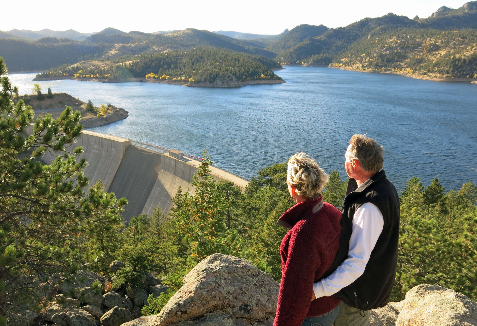 Beverly Kurtz and Tim Guenthner live near Gross Reservoir outside Boulder and oppose a reservoir expansion project. Denver Water is seeking to raise the dam behind them 131 feet.