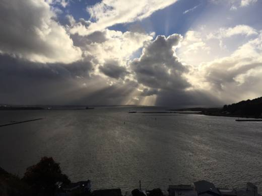 Remnants of a storm over San Pablo Bay in late October.