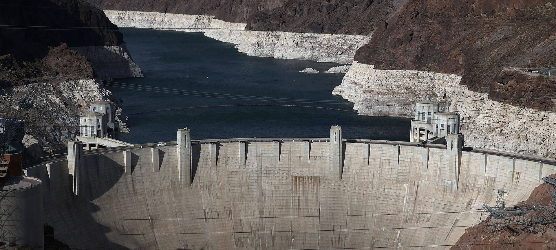 Lake Mead, the largest reservoir on the Colorado River, has hit record lows. Justin Sullivan/Getty Images