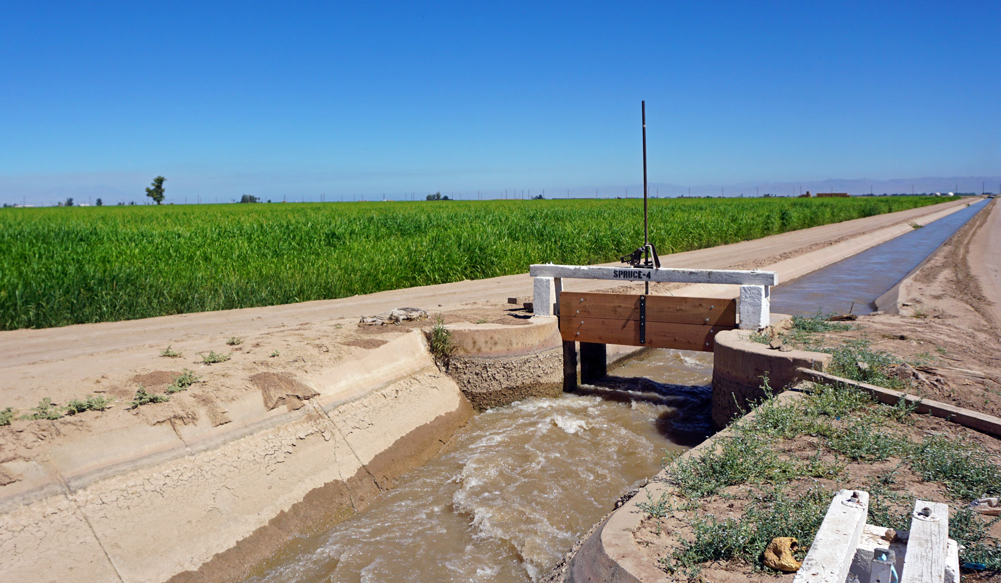 The Imperial Valley produces around two-thirds of the country's vegetables in the winter, solely with Colorado River water.