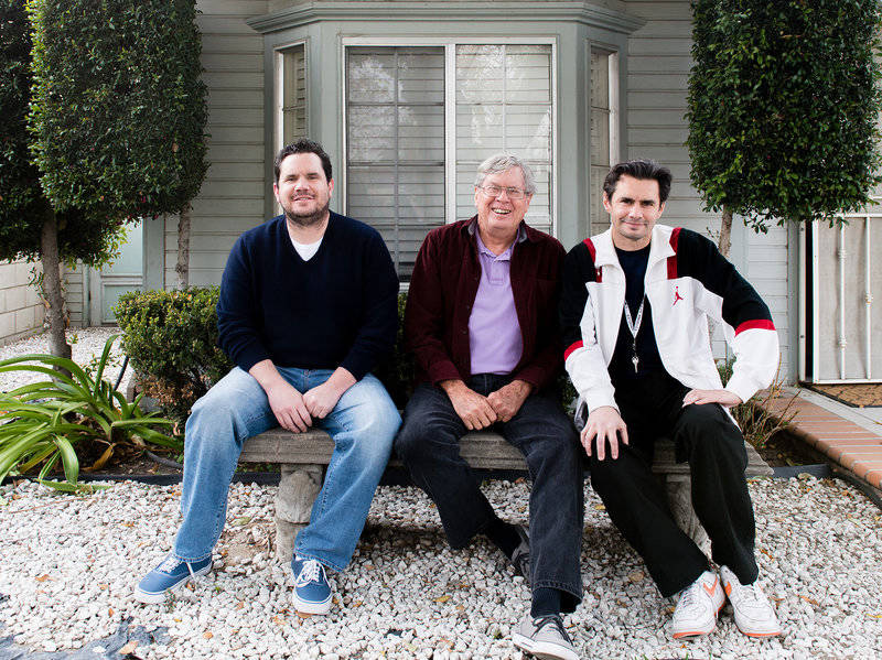 John (left) and Jay Kitchen with their father in Colton, Calif., in late 2015.