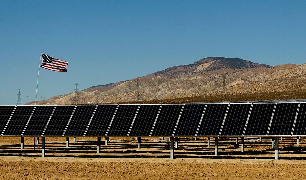 The Barren Ridge solar project in Kern County, California.