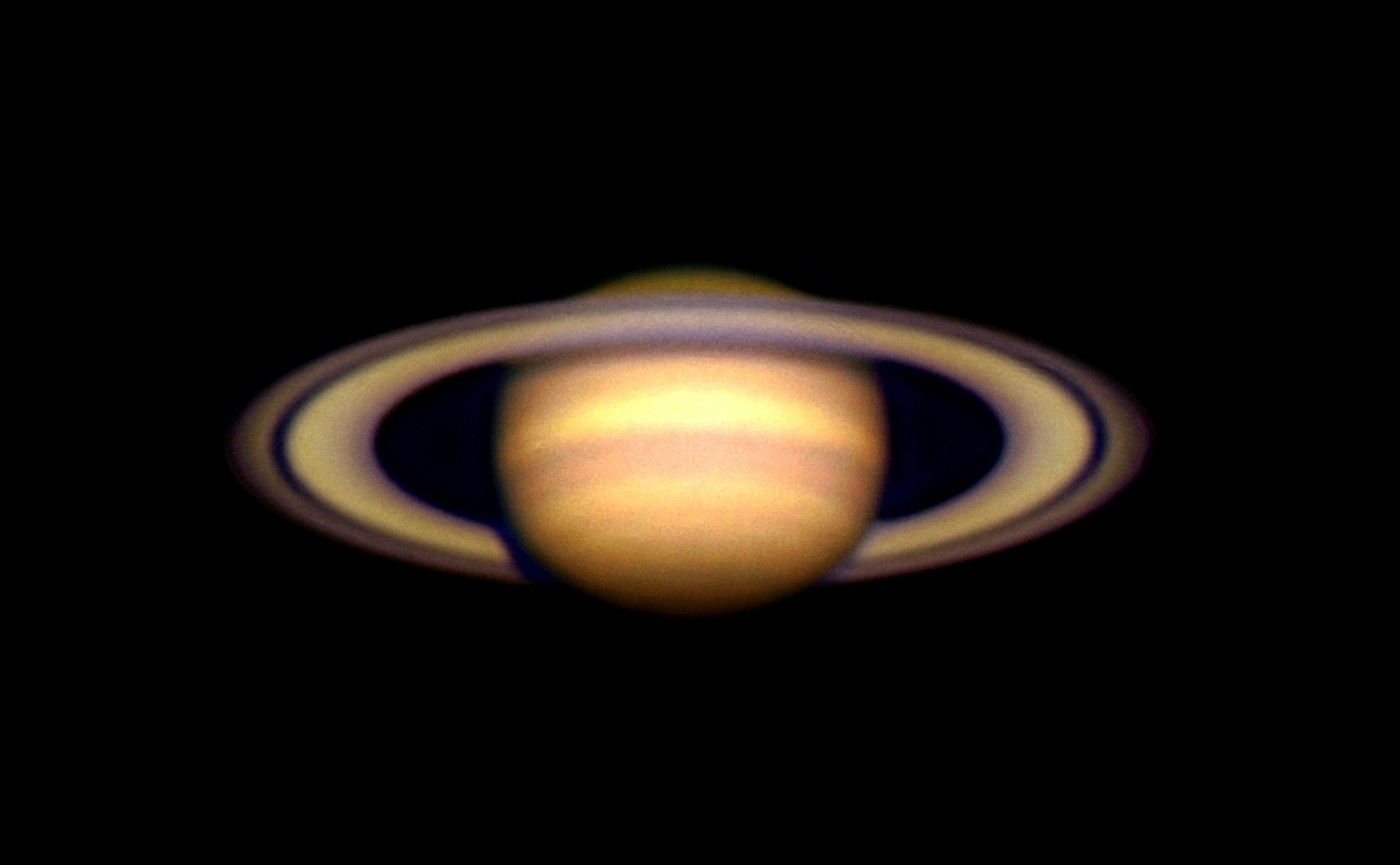 Saturn as seen through Chabot Space & Science Center's 20-inch telescope, Rachel, in 2006.