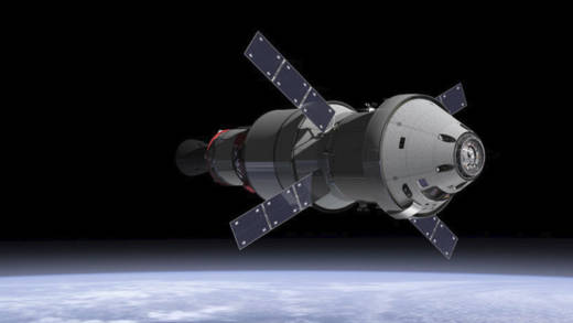 Artist illustration of NASA's next-generation crewed spacecraft, Orion.