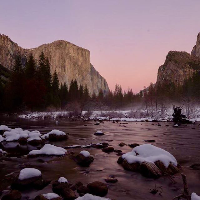 From @nickadventuretravel, via Instagram. Yosemite National Park- A never ending source of inspiration (taken in December 2016 valley view).