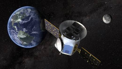Artist concept of NASA's next-generation exoplanet-hunting space telescope, TESS.