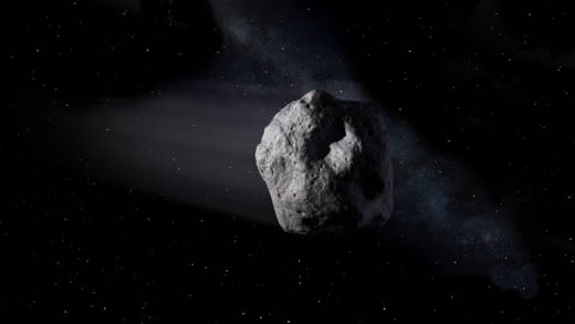 Artist concept of a Near-Earth Asteroid.