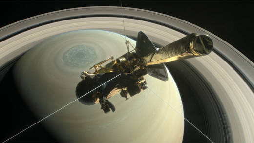NASA's veteran explorer Cassini prepares to take a final, daring dive between Saturn and its rings.