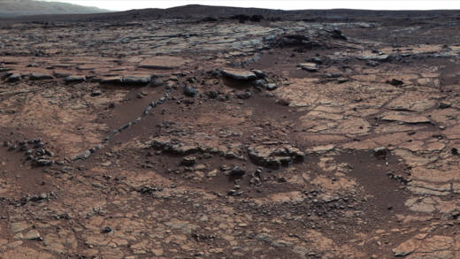Dry lake bed sediments in Mars' Gale Crater in which Curiosity has detected no carbonate minerals, which has posed a problem for scientists trying to explain how Mars was once warm enough to support liquid surface water.