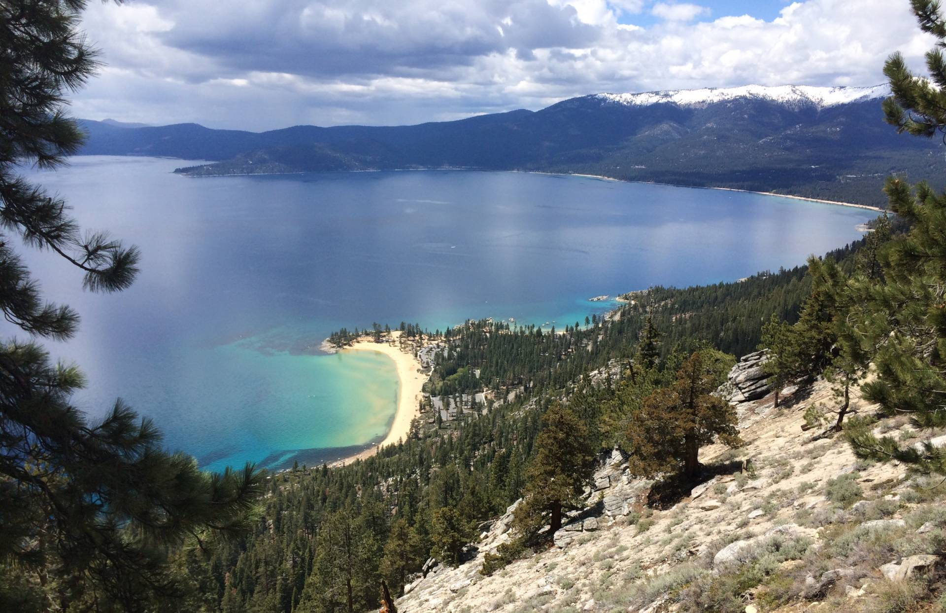 By late July 2017, the water temperature in Lake Tahoe had reached 68 degrees--5 degrees above average water temperature for this time of year. Lindsey Hoshaw