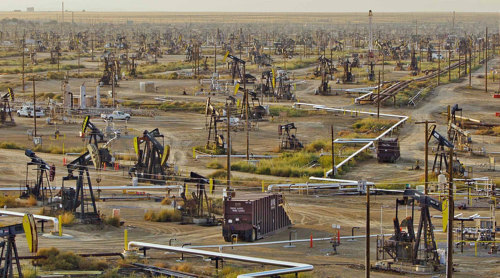 View of an oilfield.