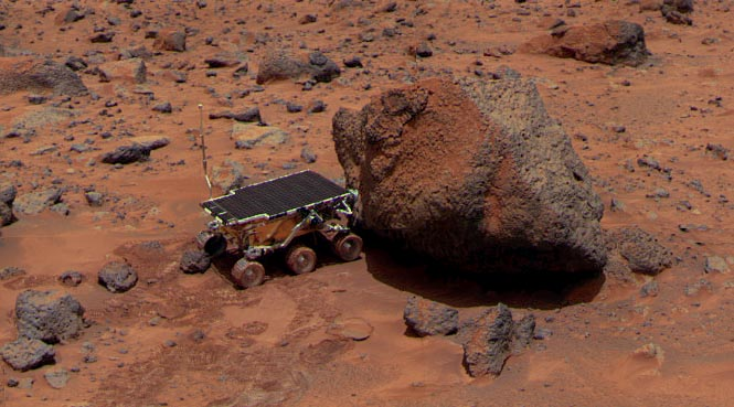Sojourner, the rover component of the Pathfinder landing mission on Mars.