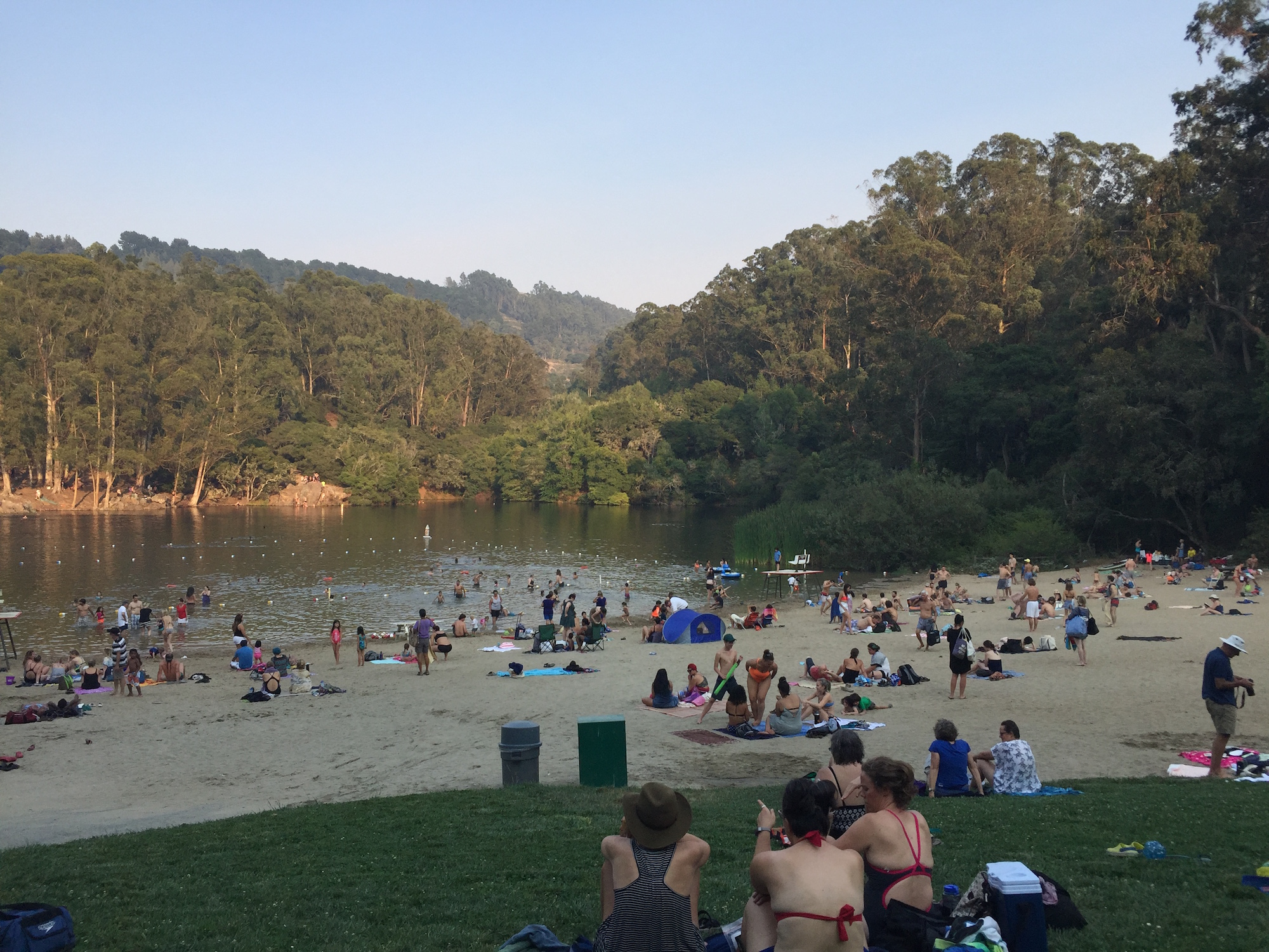 Lake Anza, in Tilden Park, covers 8-10 acres -- too large for effective eradication of the slippery invaders.