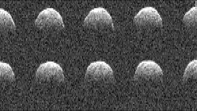 Radar images of Near-Earth Asteroid Bennu taken by the Goldstone Radio Telescope in the Mojave Desert.