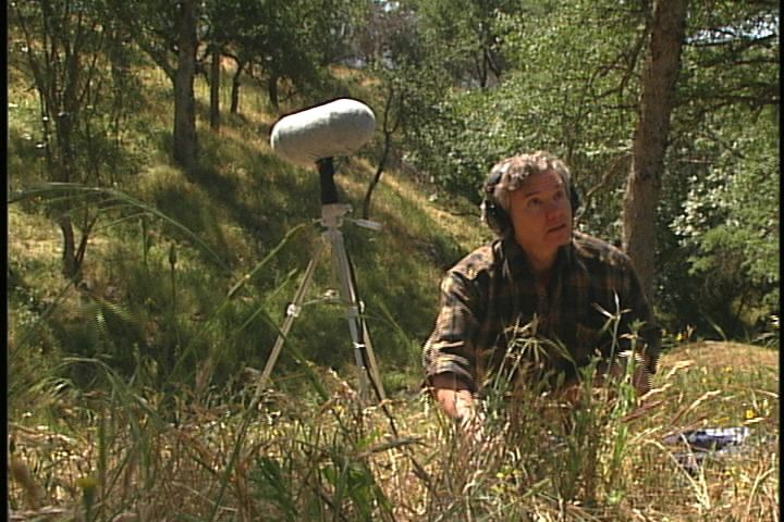 In better days: Bernie in the field, recording at Sycamore Spring in Sequoia-Kings Canyon Nat'l Park.