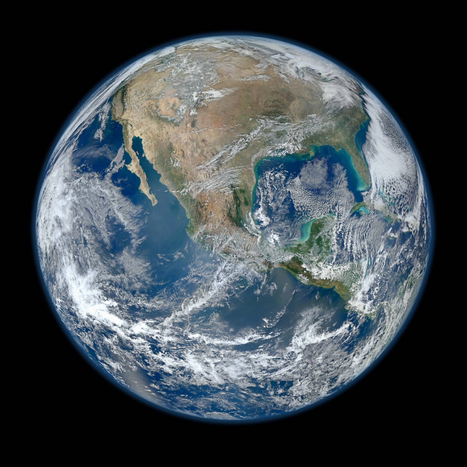 Behold one of the more stunningly detailed images of the Earth yet created. This Blue Marble Earth montage, created from photographs taken by the VIIRS instrument on board the Suomi NPP satellite, shows many stunning details of our home planet. NASA