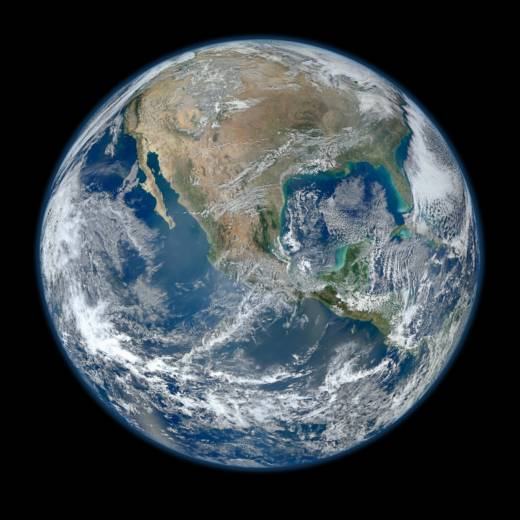 Detailed Image of Earth from Space