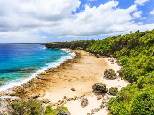 Nuku'alofa, Tonga. A new island calledHunga Tonga-Hunga Ha'apai appeared in Tonga via volcanic activity
