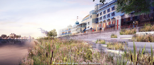 Oakland waterfront rendering