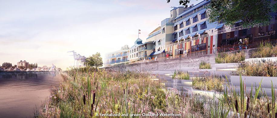 Oakland waterfront rendering