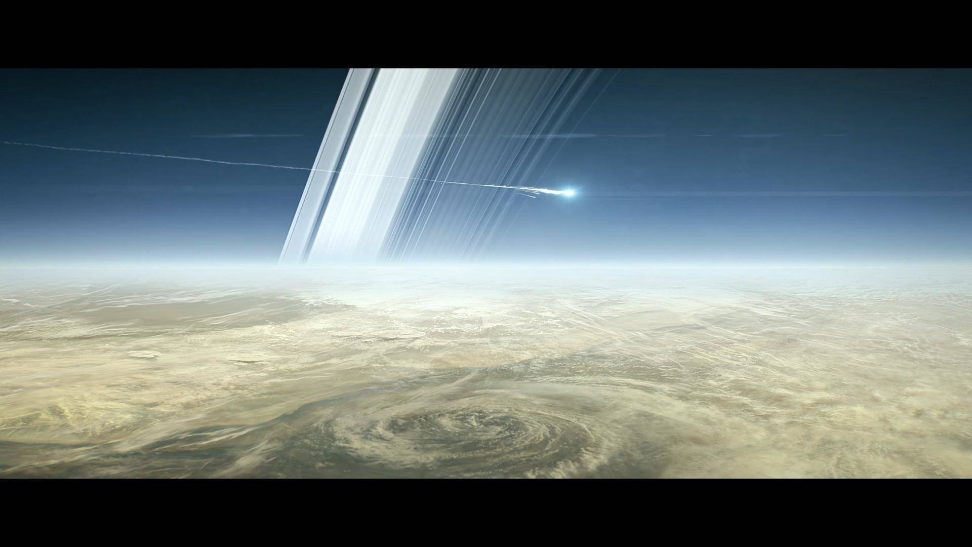 Artist concept of the Cassini spacecraft as it burned up in Saturn's atmosphere last Fall.  NASA/JPL-Caltech