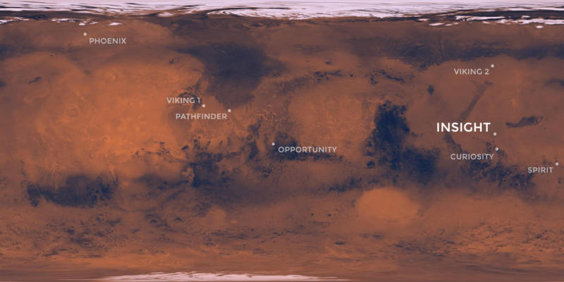 A map of the red planet.