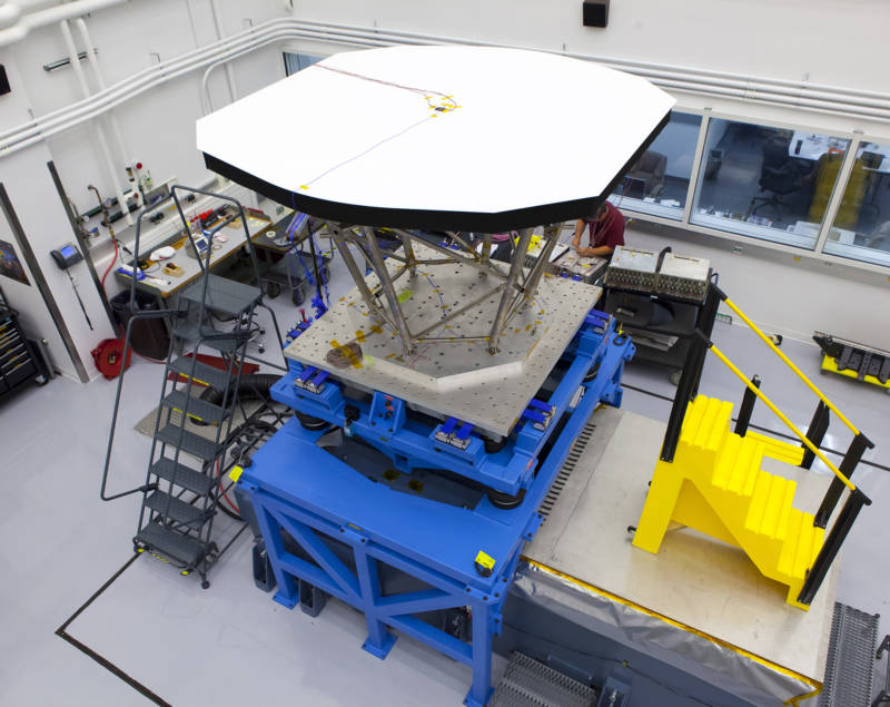 "A 2013 ""shake test"" of the Parker Solar Probe's Thermal Protection System (TPS)--the carbon-fiber shield that will protect it from sunlight 500 times more intense than what shines on Earth."