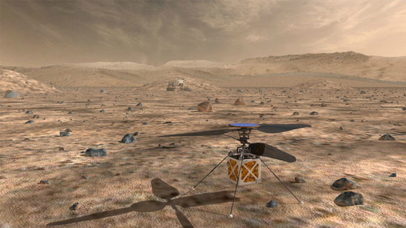 Mars Helicopter Will Buzz Through the Skies of the Red Planet